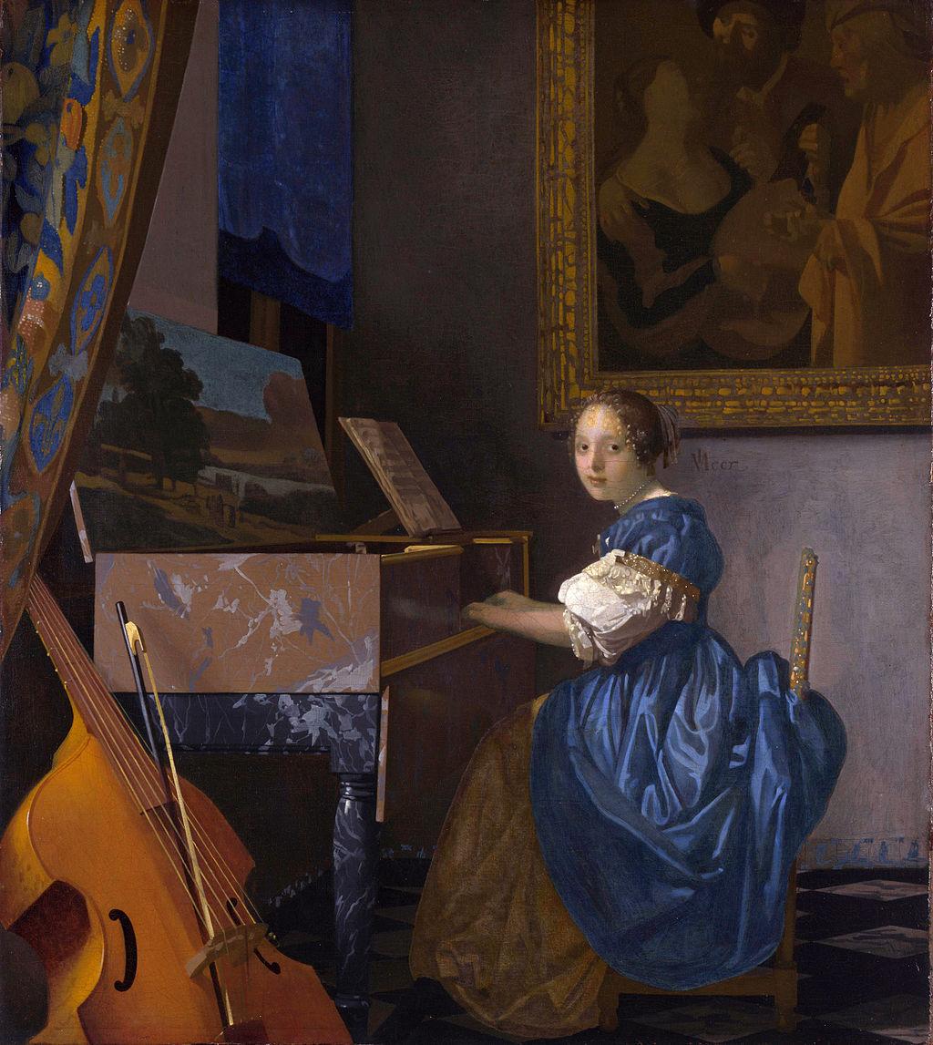 フェルメール ヴァ―ジナルの前に座る若い女性.jpg