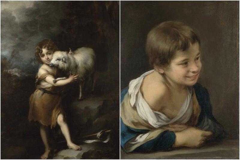 ムリーリョ「幼い洗礼者聖ヨハネ」と「窓際に身を乗り出した農民の少年」」.jpeg