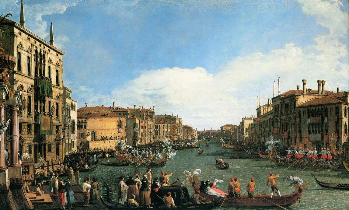 ヴェネツィア:大運河でのカナレット.jpg